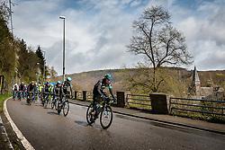 Team Sky in the peloton at La Roche-en-Ardenne with 178 km to go, the 102th edition of Li&egrave;ge-Bastogne-Li&egrave;ge race running 253 km from Li&egrave;ge to Li&egrave;ge, Belgium, 24 April 2016.<br /> Photo by Pim Nijland / PelotonPhotos.com<br /> <br /> All photos usage must carry mandatory copyright credit (&copy; Peloton Photos | Pim Nijland)