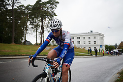 Maelle Grossetete (FRA) with two laps to go at Ladies Tour of Norway 2018 Stage 2, a 127.7 km road race from Fredrikstad to Sarpsborg, Norway on August 18, 2018. Photo by Sean Robinson/velofocus.com
