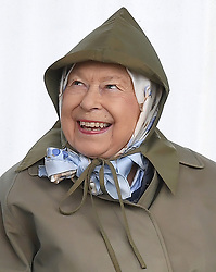 The Queen smiles as she attends the first day of the Royal Windsor Horse Show at Home Park, Windsor Castle, Windsor, Berkshire, UK, on the 8th May 2019. 08 May 2019 Pictured: The queen smiles as she attends the first day of the Royal Windsor Horse Show at Home Park, Windsor Castle, Windsor, Berkshire, UK, on the 8th May 2019. Photo credit: James Whatling / MEGA TheMegaAgency.com +1 888 505 6342