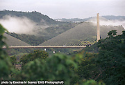 Panama CIty, Panama-- Sept. 4, 2005   The new puente Centenario over the Panama Canal which was just opened in the month of Sept. of 2005.  (Essdras M Suarez/ EMS Photography)