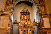 Gerace, a perfectly preserved medieval town once home to 128 churches. Church of St. Francis (13th century), containing a precious Baroque altar.