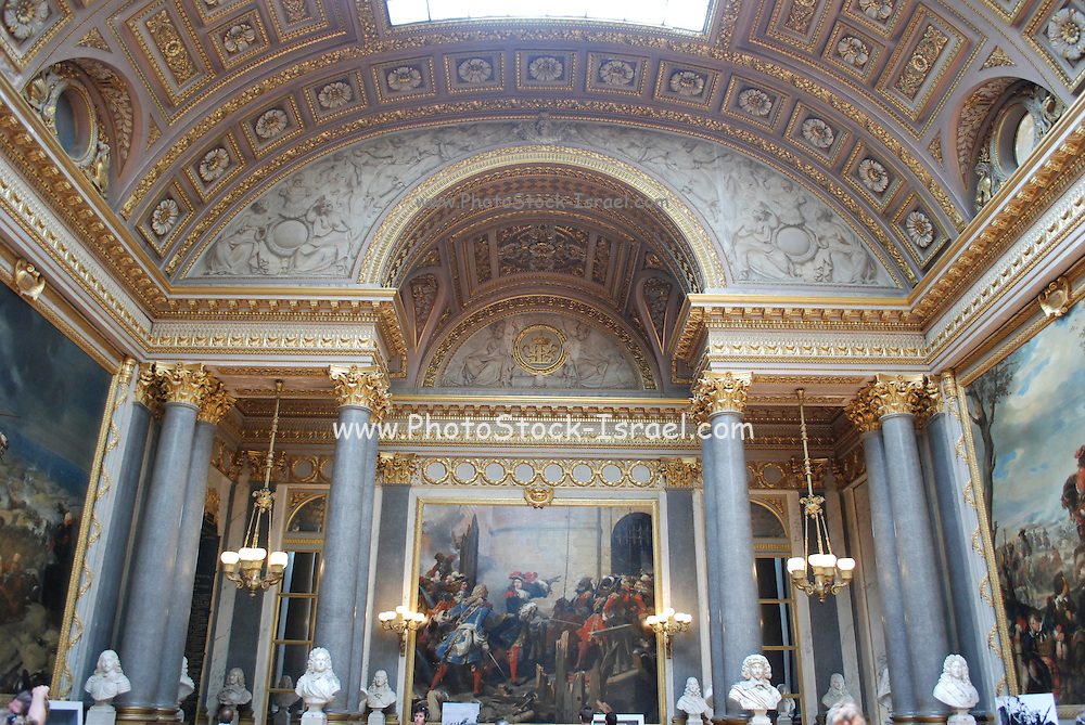 France, Versailles, Interior of The palace of Versailles