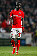 Charlton Athletic defender Mouhamadou-Naby Sarr (23) during the EFL Sky Bet League 1 second leg Play-Off match between Charlton Athletic and Doncaster Rovers at The Valley, London, England on 17 May 2019.