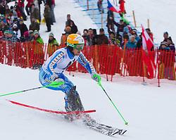 22.01.2012, Ganslernhang, Kitzbuehel, AUT, FIS Weltcup Ski Alpin, 72. Hahnenkammrennen, Herren, Slalom 1. Durchgang, im Bild Axel Baeck (SWE) // Axel Baeck of Sweden during Slalom race 1st run of 72th Hahnenkammrace of FIS Ski Alpine World Cup at 'Ganslernhang' course in Kitzbuhel, Austria on 2012/01/22. EXPA Pictures © 2012, PhotoCredit: EXPA/ Johann Groder