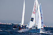 The International 470 World Championships , Haifa , Israel october 2015<br /> <br /> <br /> The 470 is a double-handed monohull planing dinghy with a centreboard, Bermuda rig, and centre sheeting.<br /> The 470 is an International Sailing Federation International Class and has been an Olympic class since the 1976 games