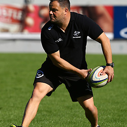 DURBAN, SOUTH AFRICA - MAY 06: Omar Mouneimne (Defence coach) of the Cell C Sharks during the Cell C Sharks Captains run at Growthpoint Kings Park on May 06, 2016 in Durban, South Africa. (Photo by Steve Haag/Gallo Images)