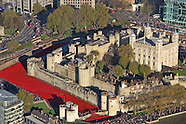 Tower of London World War 1 poppy display, Blood Swept Lands and Seas of Red, Viewed from the Shard