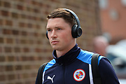 Reading midfielder George Evans (6) wearing Beats headphones arrives at the City ground ahead of the EFL Sky Bet Championship match between Nottingham Forest and Reading at the City Ground, Nottingham, England on 22 April 2017. Photo by Jon Hobley.