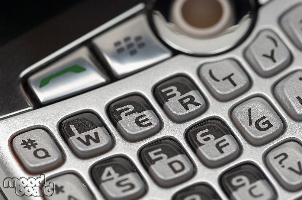 Keypad of PDA, close-up