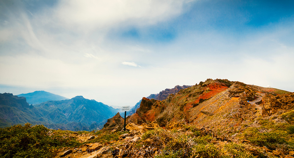 Panorama Nationalpark Caldera de Taburiente, La Palma, Kanarische Inseln, Spanien