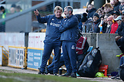 Bradford City's Manager Stuart McCall and Bradford City's Assistant Manager Kenny Black during the EFL Sky Bet League 2 match between Bradford City and Plymouth Argyle at the Utilita Energy Stadium, Bradford, England on 29 February 2020.