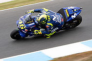 PHILLIP ISLAND, VIC - OCTOBER 27: Movistar Yamaha MotoGP rider Valentino Rossi (46) in morning practice during The 2018 Australian MotoGP at The Phillip Island Circuit in Victoria, Australia on October 27, 2018. (Photo by Speed Media/Icon Sportswire)