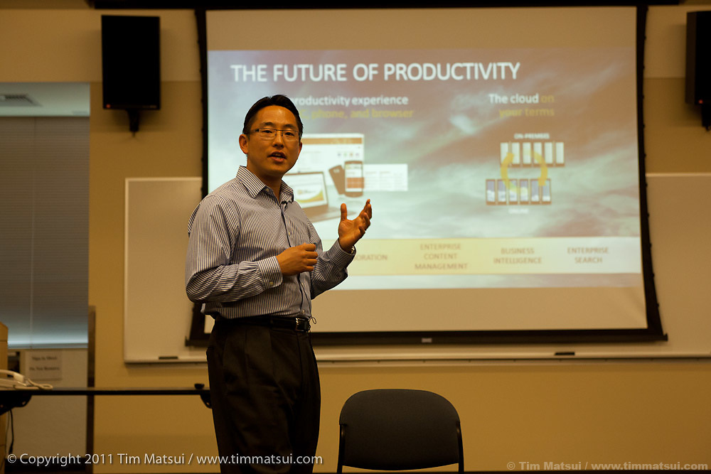 Takeshi Numoto, Corporate Vice President of the Microsoft Office Product Management Group, discusses the Microsoft Office Productivity Suite at the Microsoft Campus in Redmond, Washington, USA, on Wednesday, June 8, 2011. Photo by Tim Matsui / Microsoft.