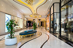 Luxury fashion boutiques inside The Lagoona Shopping Mall in Doha, Qatar