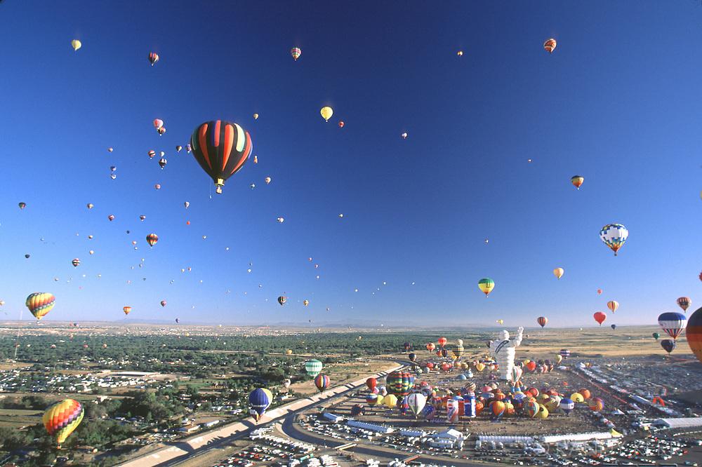 Mass ascension at Balloon Fiesta