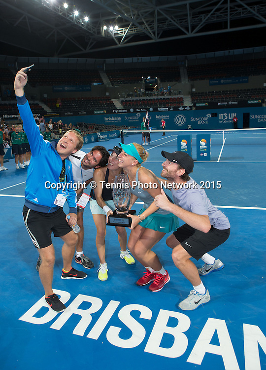 Siegerehrung mit Oliver Pocher,David Tosas (Octagon)Martina Hingis,Sabine Lisicki und Christopher Kas,Erinnerungsfoto,<br />