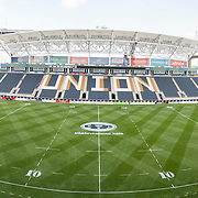 An general view of PPL Park on the evening of Friday prior to the opening group stage matches of the 2014 USA Sevens Colligate Rugby Championship. May 30, 2014. <br /> <br /> (Jack Megaw/www.jackmegaw.com)<br /> <br /> <br /> <br /> &copy;Jack Megaw, 2014. <br /> ALL RIGHTS RESERVED. NO UNPAID USE.
