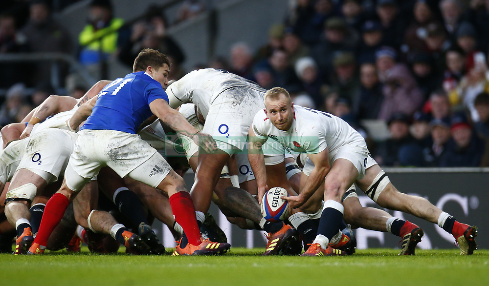 February 10, 2019 - London, England, United Kingdom - Dan Robson of England.during the Guiness 6 Nations Rugby match between England and France at Twickenham  Stadium on February 10th, 2019 in Twickenham, London,  England. (Credit Image: © Action Foto Sport/NurPhoto via ZUMA Press)