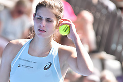 January 7, 2018 - Auckland, Auckland, New Zealand - Julia Goerges of German reacts in her final match against Caroline Wozniacki of Denmark during the WTA Women's Tournament at ASB Centre Count in Auckland, New Zealand on Jan 7, 2018.  She wins the match, beating Caroline Wozniacki 6-4 7- (Credit Image: © Shirley Kwok/Pacific Press via ZUMA Wire)
