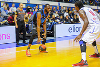 Alain Koffi / Jean Baptiste Adolphe Michel - 14.03.2015 - Paris Levallois / Rouen - 22eme journee de Pro A<br /> Photo : Anthony Dibon / Icon Sport