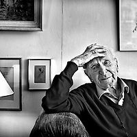 Nederland, Bussum, 24-08-2010<br /> Hans Alex Keilson, duitse schrijver, arts en psychiater.<br /> Foto : Klaas Jan van der Weij