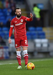 Cardiff City's John Brayford prepares to take a free kick - Photo mandatory by-line: Paul Knight/JMP - Mobile: 07966 386802 - 28/12/2014 - SPORT - Football - Cardiff - Cardiff City Stadium - Cardiff City v Watford - Sky Bet Championship