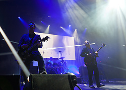 "© Licensed to London News Pictures. 03/05/2012. London, UK. New Order live at O2 Academy Brixton.  They are promoting their 2012 album, ""The Lost Sirens"".  Photo credit : Richard Isaac/LNP"