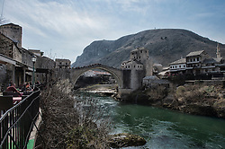 Image shows general view of the bridge in Mostar. <br /> 15/03/2015.<br /> <br /> Credit should read: Cpl Mark Larner, Media Ops Group<br /> <br /> Exercise Civil Bridge is an exercise in support of UK Defence Engagement by elements of 77 Brigade. Civil Bridge 14B (CB14B) is being conducted Sarajevo, Bosnia &amp; Herzegovina (BiH).<br /> <br /> By assisting the BiH Government to develop their contingency plans for natural disasters at both strategic and operational levels, CB14B will contribute to the long term international effort to stabilise BiH ethnic groups and authorities.