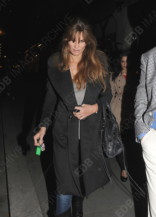 03.MAY.2011. LONDON<br /> <br /> JEMIMA KHAN LEAVING THE SCOTTS RESTAURANT IN MAYFAIR, CENTRAL LONDON<br /> <br /> BYLINE: EDBIMAGEARCHIVE.COM<br /> <br /> *THIS IMAGE IS STRICTLY FOR UK NEWSPAPERS AND MAGAZINES ONLY*<br /> *FOR WORLD WIDE SALES AND WEB USE PLEASE CONTACT EDBIMAGEARCHIVE - 0208 954 5968*