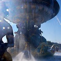 Jaques Hittorff's Fountain of River Commerce & Navigation at the Place De La Concorde in Paris.