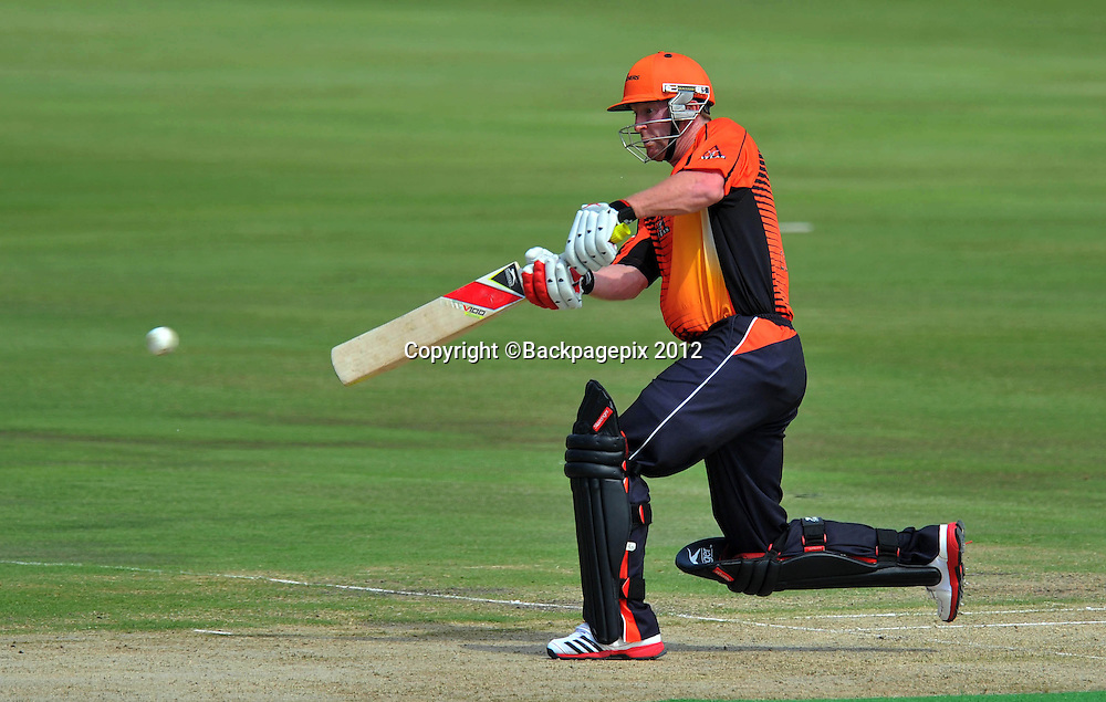 Paul Collingwood of Perth Scorchers during the 2012 Champions League Twenty20 cricket match between the Perth Scorchers and the Auckland Aces at Supersport Park in Centurion, South Africa on 23 October 2012 ©Chris Ricco/BackpagePix