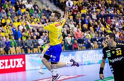Luka Zvizej of Celje PL during handball match between RK Celje Pivovarna Lasko (SLO) and Rhein-Neckar Loewen (GER) in Round 6 of EHF Champions League 2014/15, on November 23, 2014 in Arena Zlatorog, Celje, Slovenia. Photo by Vid Ponikvar / Sportida