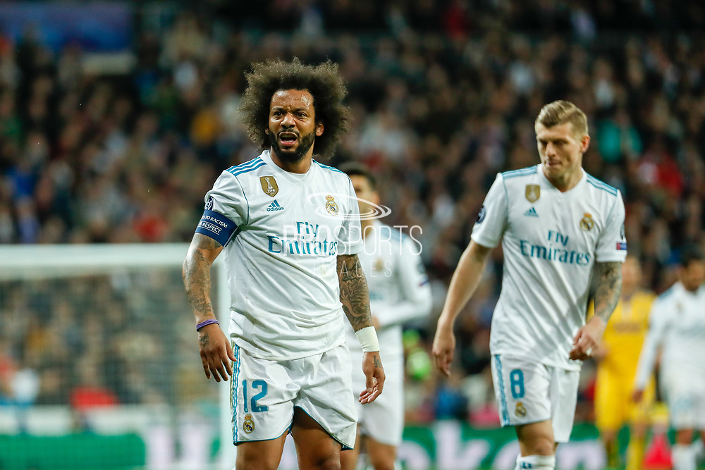 Marcelo of Real Madrid during the UEFA Champions League, quarter final, 2nd leg football match between Real Madrid CF and Juventus FC on April 11, 2018 at Santiago Bernabeu stadium in Madrid, Spain - Photo Oscar J Barroso / Spain ProSportsImages / DPPI / ProSportsImages / DPPI