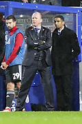 A soaking wet QPR manager Steve McClaren during the EFL Sky Bet Championship match between Queens Park Rangers and Brentford at the Loftus Road Stadium, London, England on 10 November 2018.