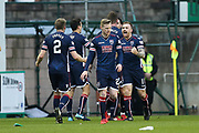 Craig Curran (#11) of Ross County celebrates Ross County's first goal (0-1) during the Ladbrokes Scottish Premiership match between Hibernian and Ross County at Easter Road, Edinburgh, Scotland on 23 December 2017. Photo by Craig Doyle.