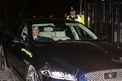 London, UK. 20th March, 2019. Jacob Rees-Mogg, Conservative MP for North East Somerset, leaves the House of Commons on the evening that Prime Minister Theresa May was meeting Opposition leaders to discuss extending Article 50 before travelling to Brussels tomorrow for an EU summit.