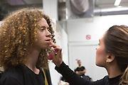 Backstage of Miaoran fashion designer at Armani Teatro, Milan June 18, 2016. © Carlo Cerchioli