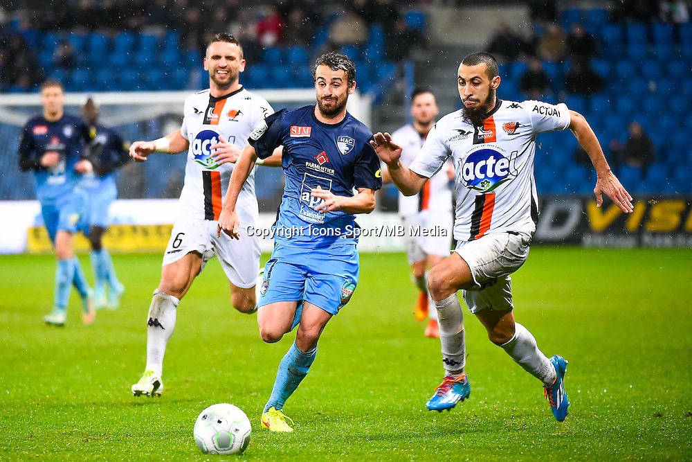 Anthony GONCALVES / Alexandre BONNET / Fouad CHAFIK  - 12.12.2014 - Le Havre / Laval - 17eme journee de Ligue 2 <br /> Photo : Fred Porcu / Icon Sport
