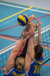 14-02-2016 NED: Nederland - Oekraine, Houten<br /> De Nederlandse paravolleybalsters speelde een vriendschappelijke wedstrijd tegen Europees kampioen Oekra&iuml;ne. De equipe van bondscoach Pim Scherpenzeel bereidt zich tegen Oekra&iuml;ne voor op het Paralympisch kwalificatietoernooi in China, dat in maart wordt gespeeld /   Elvira Stinissen #1 of Nederland