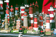 Souvenir lighthouses at the harbour.