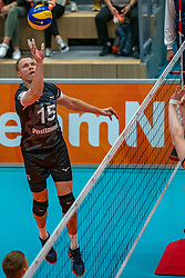 12-06-2019 NED: Golden League Netherlands - Estonia, Hoogeveen<br /> Fifth match poule B - The Netherlands win 3-0 from Estonia in the series of the group stage in the Golden European League / Andrus Raadik #15 of Estonia