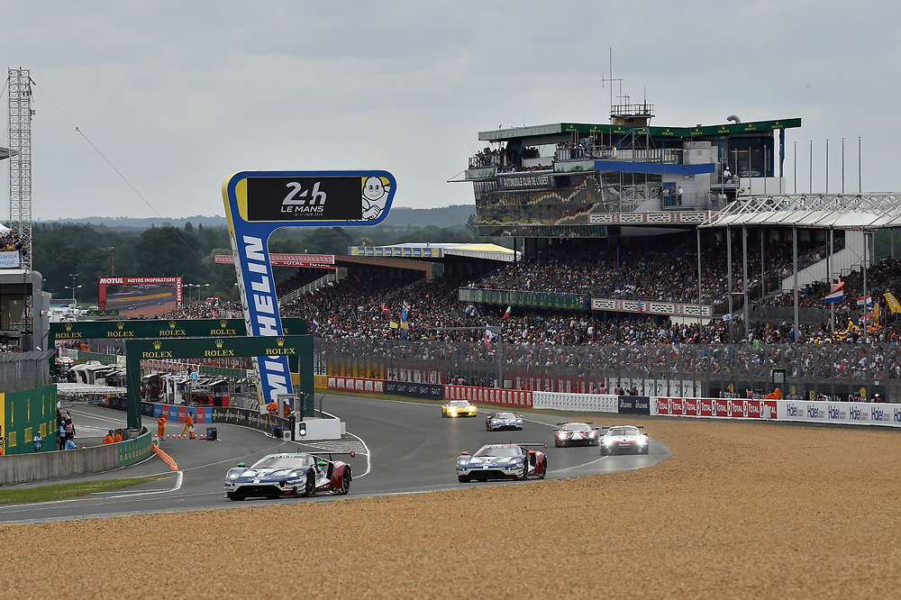 #66 Ford Chip Ganassi Racing Ford GT: Stefan M&uuml;cke, Olivier Pla, Billy Johnson, #69 Ford Chip Ganassi Racing Ford GT: Ryan Briscoe, Richard Westbrook, Scott Dixon<br /> Saturday 16 June 2018<br /> 24 Hours of Le Mans<br /> 2018 24 Hours of Le Mans<br /> Circuit de la Sarthe  FR<br /> World Copyright: Scott R LePage