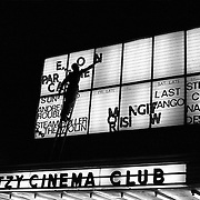 The Ritzy Cinema Club bill-board, September 1980. Brixton, London. England.