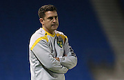 Norwich City manager Dmitri Halajko during the Barclays U21 Premier League Cup match between Brighton U21 and U21 Norwich City at the American Express Community Stadium, Brighton and Hove, England on 12 November 2015.