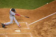 PHOENIX, ARIZONA - APRIL 27:  Aledmys Diaz #36 of the St. Louis Cardinals hits a home run in the fifth inning against the Arizona Diamondbacks at Chase Field on April 27, 2016 in Phoenix, Arizona.  (Photo by Jennifer Stewart/Getty Images)