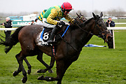 Winner - Supasundae and Robbie Power (red cap) and second placed Buveur D'Air with Barry Geraghty (white cap) battle at the finish3.25pm The Betway Aintree Hurdle (Grade 1) 2m 4fduring the Grand National Festival Week at Aintree, Liverpool, United Kingdom on 4 April 2019.