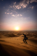Trekking in the Arabian Desert - U.A.E.