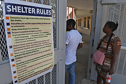 People wait to be registered at the hurricane shelter located at Boynton Beach Community High School.  FL. 9/8/17. (Photo by Jim Rassol /Sun Sentinel/TNS/Sipa USA)<br />SOUTH FLORIDA OUT; NO MAGS; NO SALES; NO INTERNET; NO TV