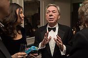 LORD LLOYD WEBBER, Nicky Haslam hosts dinner at  Gigi's for Leslie Caron. 22 Woodstock St. London. W1C 2AR. 25 March 2015