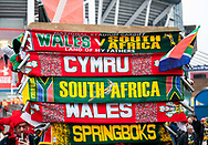 Scarves for sale outside of the stadium <br /> <br /> Photographer Simon King/Replay Images<br /> <br /> Under Armour Series - Wales v South Africa - Saturday 24th November 2018 - Principality Stadium - Cardiff<br /> <br /> World Copyright &copy; Replay Images . All rights reserved. info@replayimages.co.uk - http://replayimages.co.uk